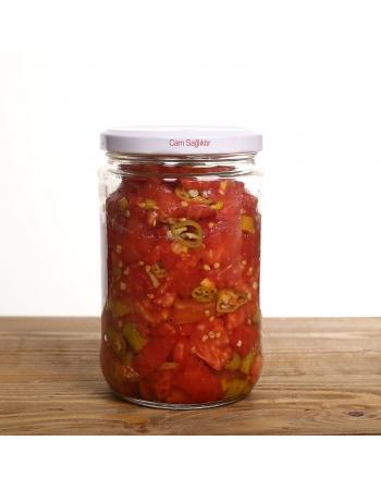 Menemenlik domates - yeşil biber konservesi